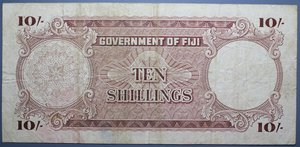 D/ FIJI 10 SHILLINGS 01.06.1957 BB