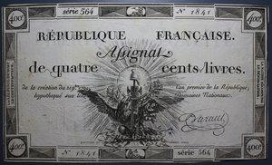 R/ FRANCIA 400 LIVRES 1792 SPL