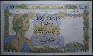 R/ FRANCIA 500 FRANCS 16.01.1941 qSPL