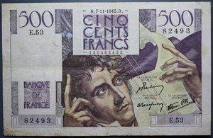 R/ FRANCIA 500 FRANCS 07.11.1945 SPL
