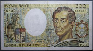R/ FRANCIA 200 FRANCS 1987 qSPL