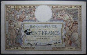 R/ FRANCIA 100 FRANCS 28.1.1937 BB+