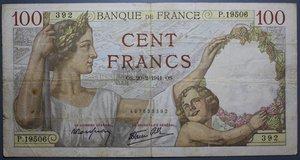R/ FRANCIA 100 FRANCS 20.2.1941 BB
