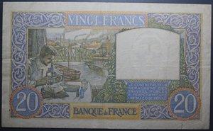 D/ FRANCIA 20 FRANCS 26.09.1940 qSPL