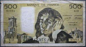 D/ FRANCIA 500 FRANCHI 1984-1974 LOTTO 2 BANCONOTE BB+/MB+