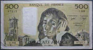 R/ FRANCIA 500 FRANCHI 1984-1974 LOTTO 2 BANCONOTE BB+/MB+