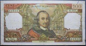 D/ FRANCIA 100 FRANCHI 1968-1976 LOTTO 2 BANCONOTE BB (FORI)