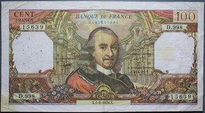 R/ FRANCIA 100 FRANCHI 1968-1976 LOTTO 2 BANCONOTE BB (FORI)