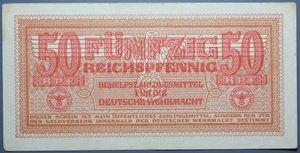 R/ GERMANIA 50 REICHSPFENNIG 1942 MILITARY PAYMENT CERTIFICATE WWII SPL