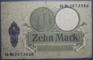 D/ GERMANIA 10 MARK 1906 MB