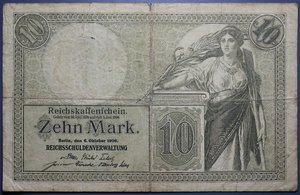 R/ GERMANIA 10 MARK 1906 MB