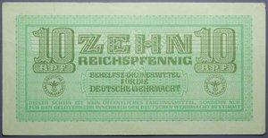 R/ GERMANIA 10 REICHSPFENNIG 1942 MILITARY PAYMENT CERTIFICATE WWII SPL