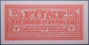 R/ GERMANIA 5 REICHSPFENNIG 1942 MILITARY PAYMENT CERTIFICATE WWII FDS