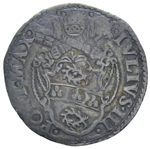 D/ STATO PONTIFICIO GIULIO III 1550-1555 GIULIO ROMA AG. 2,83 GR. BB