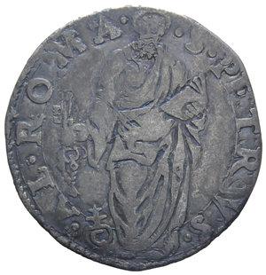 R/ STATO PONTIFICIO GIULIO III 1550-1555 GIULIO ROMA AG. 2,83 GR. BB