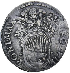 D/ STATO PONTIFICIO MARCELLO II 1555 GIULIO ANCONA AG. 2,80 GR. qBB/MB-BB