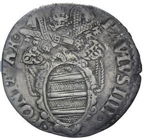 D/ STATO PONTIFICIO PAOLO IV 1555-1559 GIULIO ANCONA AG. 2,82 GR. BB