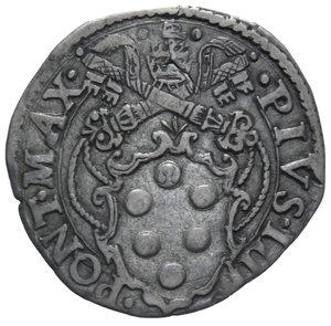 D/ STATO PONTIFICIO PIO IV 1559-1565 GIULIO ROMA AG. 2,93 GR. BB