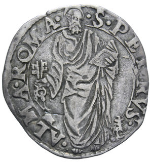 R/ STATO PONTIFICIO PIO IV 1559-1565 GIULIO ROMA AG. 2,93 GR. BB