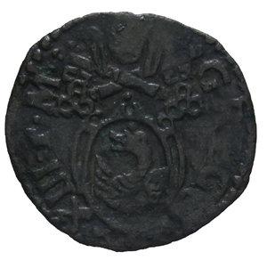 D/ STATO PONTIFICIO GREGORIO XIII 1572-1585 QUATTRINO MACERATA 0,55 GR. qBB