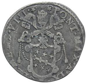 D/ STATO PONTIFICIO CLEMENTE VIII TESTONE 1601 ROMA AG. 8,26 GR. qBB