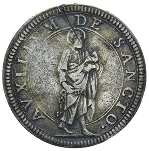 R/ STATO PONTIFICIO CLEMENTE IX GIULIO 1667 R AG. 2,82 GR. BB