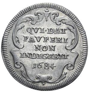 R/ STATO PONTIFICIO INNOCENZO XI GIULIO 1684 AG. 3,05 GR. qSPL