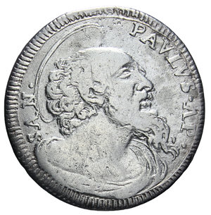 R/ STATO PONTIFICIO CLEMENTE XI 1700-1721 GROSSO AG. 1,52 GR. BB