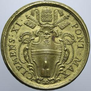 D/ STATO PONTIFICIO CLEMENTE XI 1700 - 1721 PESO MONETALE ROMA DOBLONE DOPPIO DI SPAGNA GR. 26,78 R SPL