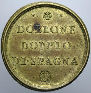 R/ STATO PONTIFICIO CLEMENTE XI 1700 - 1721 PESO MONETALE ROMA DOBLONE DOPPIO DI SPAGNA GR. 26,78 R SPL
