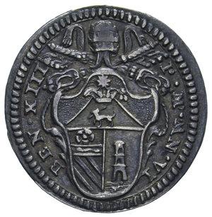 D/ STATO PONTIFICIO BENEDETTO XIII GROSSO 1729 AG. 1,,53 GR. BB-SPL