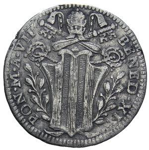 D/ STATO PONTIFICIO BENEDETTO XIV 1740-1758 GROSSO AG. 1,23 GR. qBB