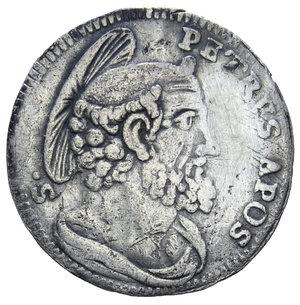 R/ STATO PONTIFICIO BENEDETTO XIV 1740-1758 GROSSO AG. 1,23 GR. qBB