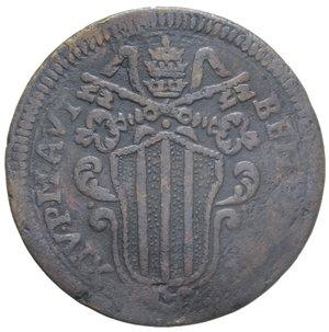 D/ STATO PONTIFICIO BENEDETTO XIV 1 BAIOCCO 1746 FERRARA 10,77 GR. MB-qBB