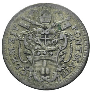 D/ STATO PONTIFICIO CLEMENTE XIV CARLINO ROMANO 1771 2,66 GR. qBB