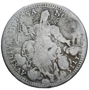 R/ STATO PONTIFICIO PIO VI DOPPIO GIULIO 1775 AG. 5 GR. MB+