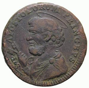 D/ STATO PONTIFICIO PIO VI 2 BAIOCCHI E MEZZO 1796 ROMANI SAMPIETRINO 21,43 GR. BB/qBB