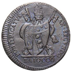 R/ STATO PONTIFICIO PIO VII BAIOCCO 1802 9,11 GR. BB+