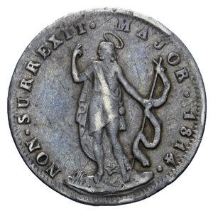 D/ GENOVA REPUBBLICA 10 SOLDI 1814 AG. 2,1 GR. BB/BB+