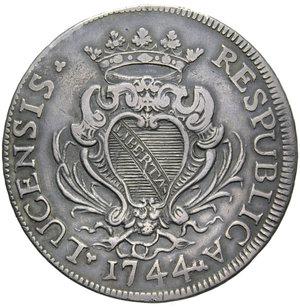 D/ LUCCA REPUBBLICA SCUDO 1744 AG. 26,61 GR. BB+