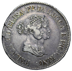 D/ LUCCA E PIOMBINO 5 FRANCHI 1805 R AG. 24,81 GR. BB