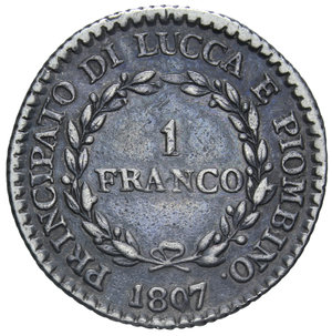 R/ LUCCA E PIOMBINO 1 FRANCO 1807 NC AG. 4,92 GR. BB+