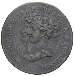D/ LUCCA E PIOMBINO 5 CENT. 1806 R 9,92 GR. BB