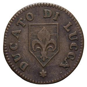 D/ DUCATO DI LUCCA CARLO LUDOVICO DI BORBONE 2 QUATTRINI 1826 1,9 GR. BB+