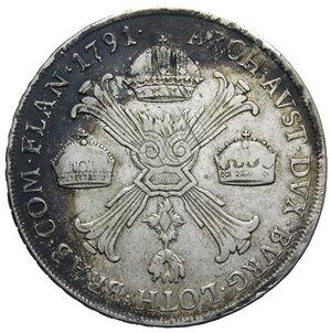 R/ MILANO LEOPOLDO II CROCIONE 1791 RR AG. 29,40 GR. BB