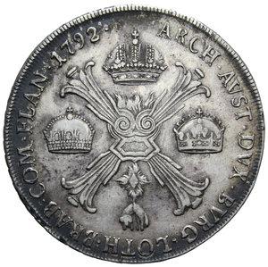 R/ MILANO LEOPOLDO II CROCIONE 1792 AG. 29,46 GR. BB