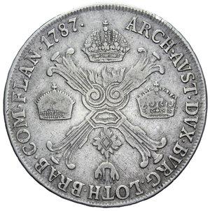 R/ MILANO GIUSEPPE II 1/2 CROCIONE 1787 AG. 14,59 GR. qBB