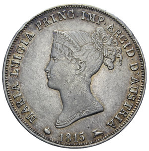 D/ DUCATO DI PARMA MARIA LUIGIA 1 LIRA 1815 R AG. 4,96 GR. BB-SPL/SPL