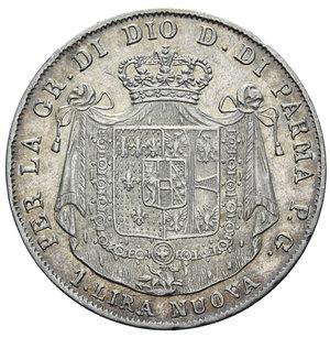 R/ DUCATO DI PARMA MARIA LUIGIA 1 LIRA 1815 R AG. 4,96 GR. BB-SPL/SPL