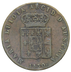 D/ DUCATO DI PARMA MARIA LUIGIA 5 CENT. 1830 9,42 GR. BB